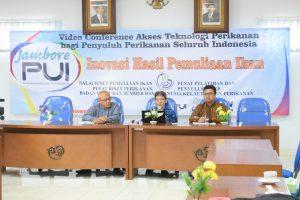 VIDEO COVERENCE BERSAMA PENYULUH PERIKANAN  SELURUH INDONESIA , BRPI BERSAMA PUSAT PELATIHAN DAN PENYULUHAN PERIKANAN KENALKAN PRODUK INOVASI PEMULIAAN IKAN