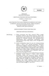 Keputusan Presiden Republik Indonesia Nomor 14 Tahun 2018